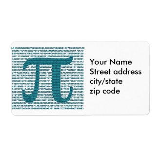 Números del día del pi etiquetas de envío