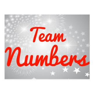 Números del equipo postales