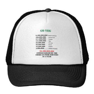 números del veg gorras
