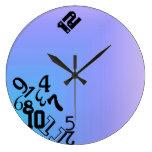 Números descendentes relojes de pared
