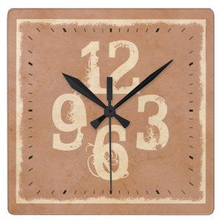Números elegantes lamentables de la tipografía reloj cuadrado