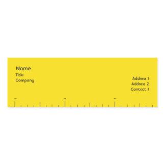 Números - flacos tarjetas de visita mini