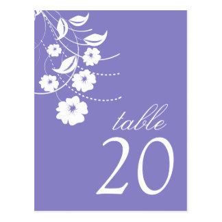 Números florales de la tabla del Flourish (púrpura Postal