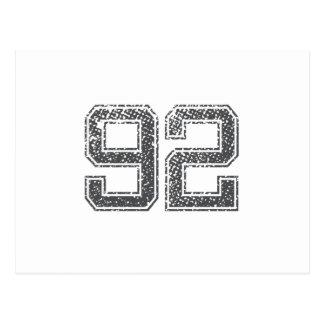 Números Gray_92.png Tarjeta Postal
