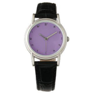 Números hebreos - reloj clásico para la mujer