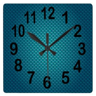 Números intrépidos azul marino de la armadura el   reloj cuadrado