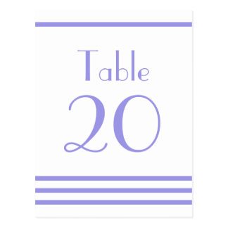 Números modernos de la tabla de las rayas (púrpura postales