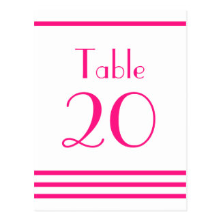 Números modernos de la tabla de las rayas (rosas f postal