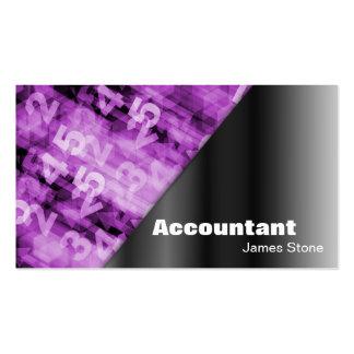 Números negros y rosados de la tarjeta de visita d