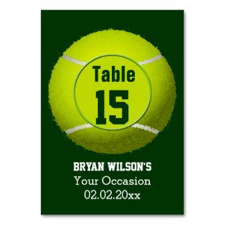 Números personalizados tema de la tabla del tenis