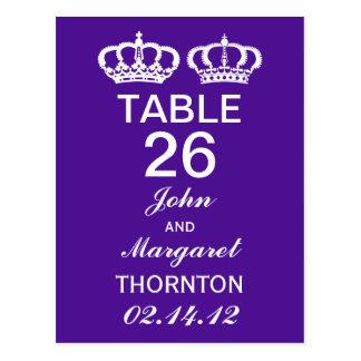 Números reales púrpuras de la tabla de los pares postal