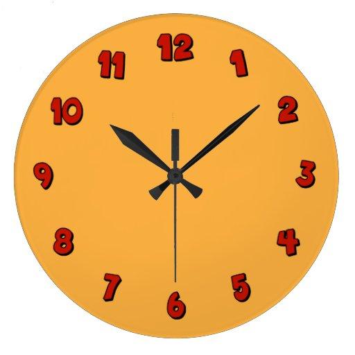 Números rojos relojes