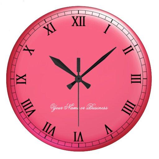 Números romanos clásicos de la firma 3D-Style Reloj Redondo Grande