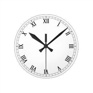 Números romanos clásicos relojes