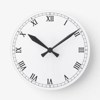 Números romanos clásicos reloj redondo mediano