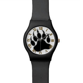 Números romanos gay de la pata de oso del orgullo  reloj de mano