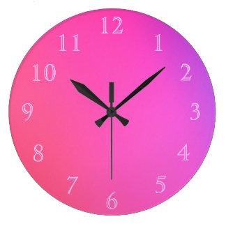 Números rosados en rosa reloj redondo grande
