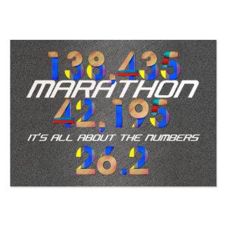 Números SUPERIORES del maratón Tarjetas De Visita Grandes