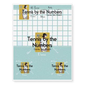 Números SUPERIORES del tenis Tatuajes Temporales