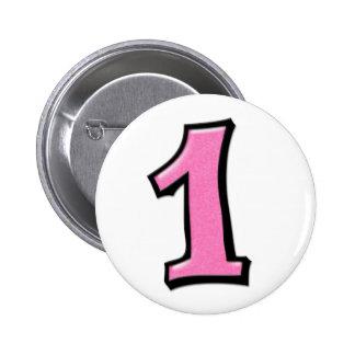 Números tontos 1 botón rosado