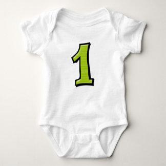 Números tontos 1 camiseta del niño de la verde remera