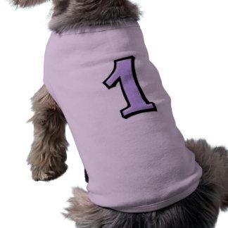 Números tontos 1 camiseta del perro de la lavanda playera sin mangas para perro