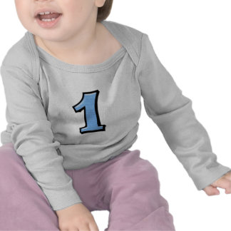 Números tontos 1 camiseta infantil azul
