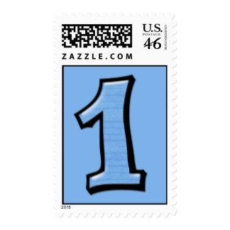 Números tontos 1 franqueo azul