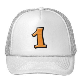 Números tontos 1 gorra anaranjado