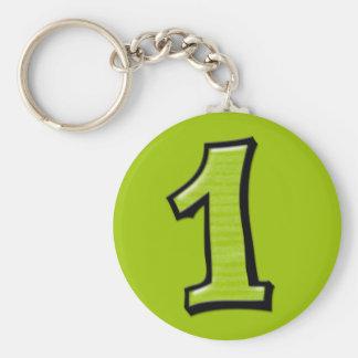 Números tontos 1 llavero verde
