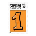 Números tontos 1 sello anaranjado