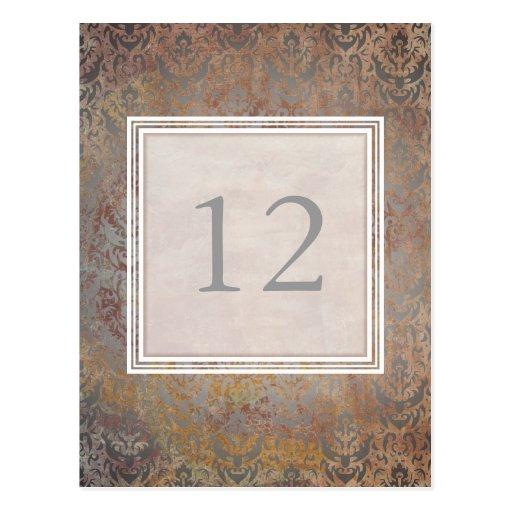 Números toscanos de la tabla del damasco del tarjeta postal