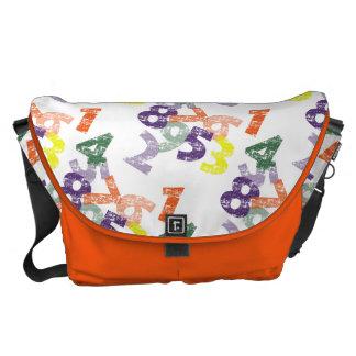 Números y bolsos de la moda bolsas messenger