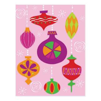 Numerous Christmas decoration illustrated in diffe Postcard