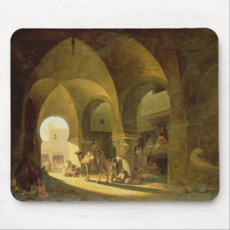 Numerous Figures in a North African Bazaar, 1839 ( Mouse Pad