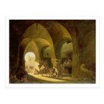 Numerous Figures in a North African Bazaar, 1839 ( Postcard