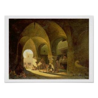 Numerous Figures in a North African Bazaar, 1839 ( Poster
