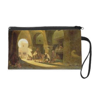 Numerous Figures in a North African Bazaar, 1839 ( Wristlet Purse