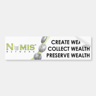 Numis Network Collect wealth bumper sticker