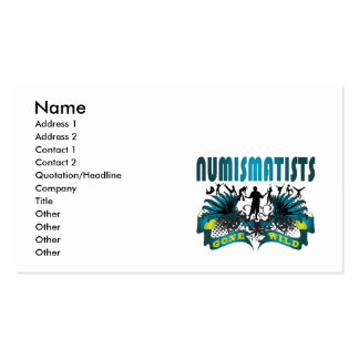 Numismatists Gone Wild Business Card Template