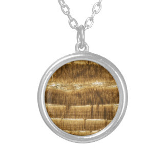Nummulite limestone under the microscope silver plated necklace