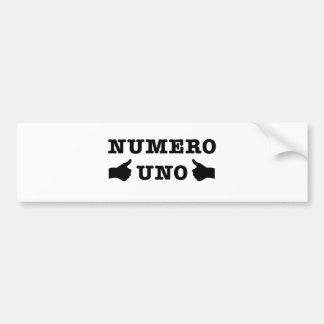 Numro Uno Bumper Sticker