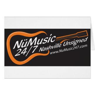 NuMusic247.com Merchandise / Black Logo Card