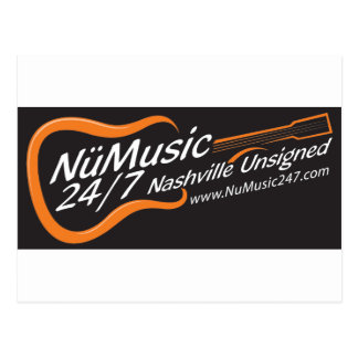 NuMusic247.com Merchandise / Black Logo Postcard