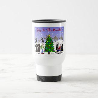Nun Art Christmas Scene Gifts Travel Mug