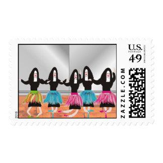Nun Ballerinas Postage Stamps