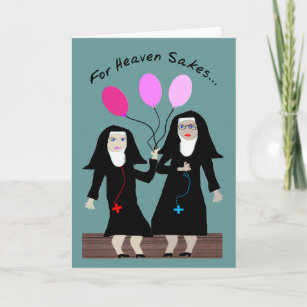 Nun Birthday Card Sister Party Pants
