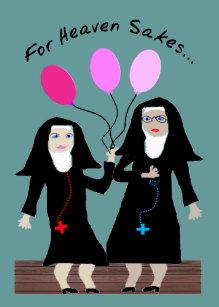 Catholic nun birthday cards zazzle nun birthday card sister party pants m4hsunfo