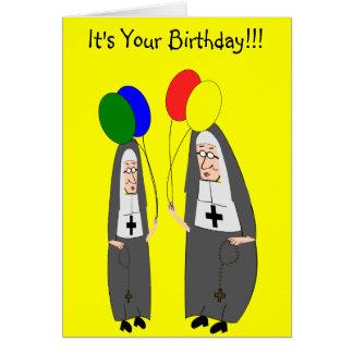 Nun Birthday Gifts Card