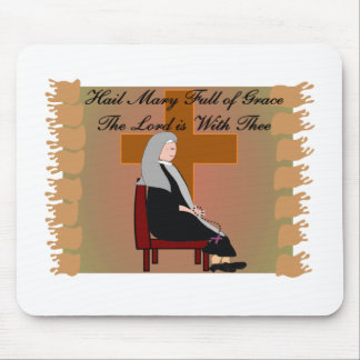 Nun Cards and Gifts Hail Mary Prayer Mouse Pad